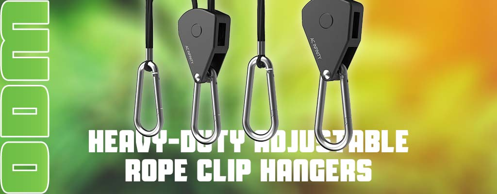HEAVY-DUTY ADJUSTABLE ROPE CLIP HANGER